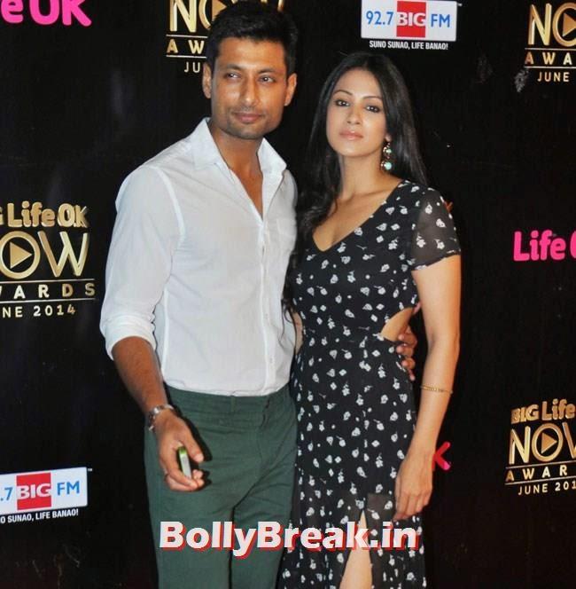 Indraneil Sengupta and Barkha Bisht, Life OK Now Awards 2014 Red Carpet Pics