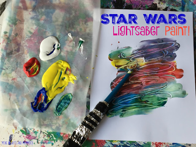 Lightsaber painting