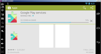 Tampilan Google Store Pada KOPlayer