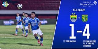 Persib Bandung Kalah 1-4 dari Persebaya Surabaya