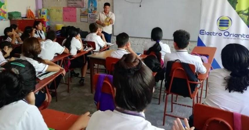 Escolares de Jaén reciben orientación para prevenir accidentes eléctricos - Cajamarca