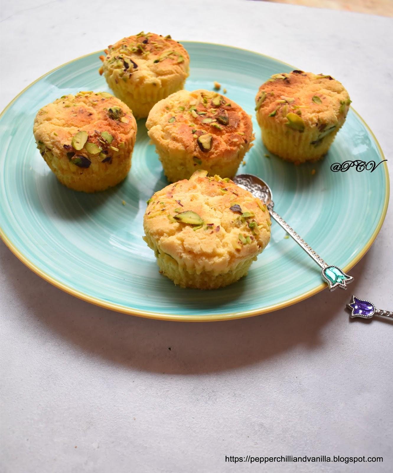 Eggless Kesar Mawa Cupcake /Eggfree Mawa Cupcake Recipe /Eggless Mava cake