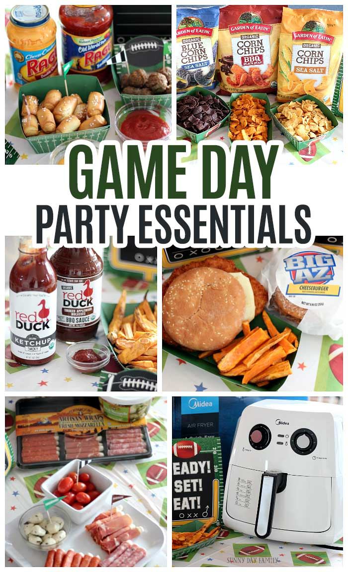 The perfect menu for your big game party! Delicious and simple appetizers, dips, sandwiches, fries and more for the perfect game day menu. #ad #BigGameBBxx #footballfood #gamedayfood @redduckketchup