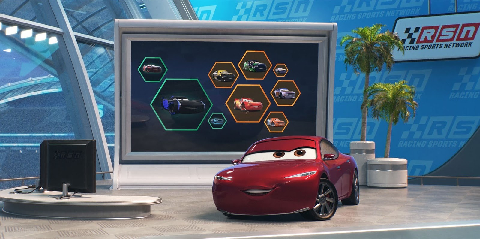 Why are the next gen racers in cars 3 so efficient natalie