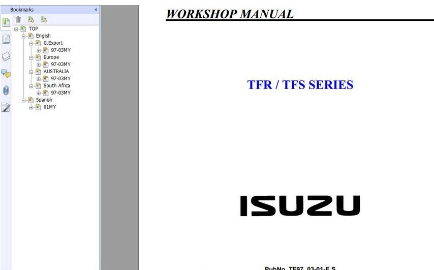 Free Automotive Manuals: ISUZU TFR,TFS SERIES 1997-2003