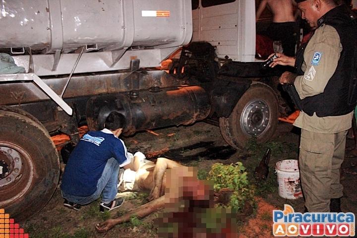 Em Piracuruca, homem morre após ter cabeça esmagada por caçamba