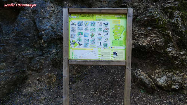 Panel informativo, Nacimiento río Borosa, Pontones, Sierra de Cazorla, Jaén, Andalucía