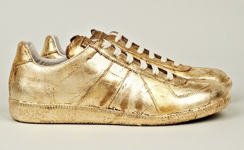 Maison Martin Margiela Mens Shoes Gold