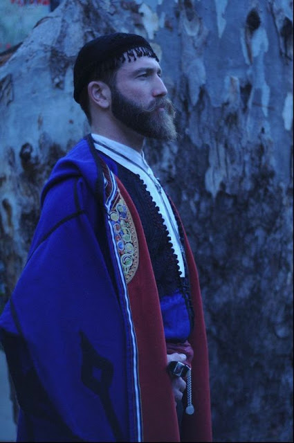 Pride. Greek man from Crete, in traditional Greek Cretan costume.