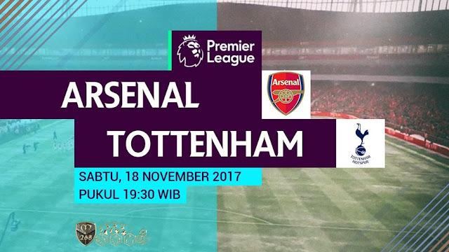 Prediksi Bola : Arsenal Vs Tottenham Hotspur , Sabtu 18 November 2017 Pukul 19.30 WIB @ MNCTV