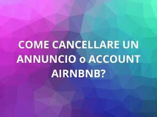 eliminare annuncio airbnb