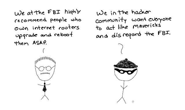 amusedbits, cartoon, humor, cybersecurity, FBI, Hackers, reboot