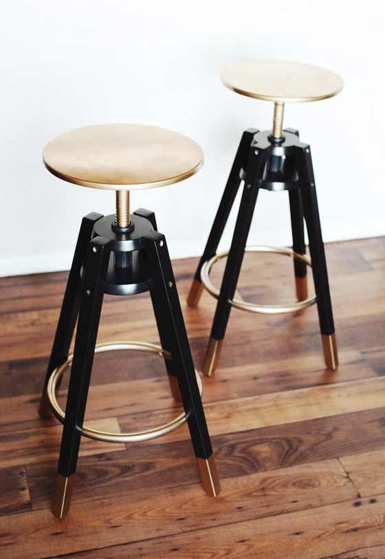 DALFRED IKEA Bar Stools Makeover