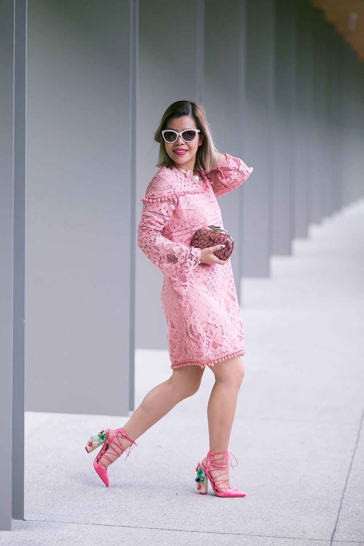 Crystal Phuong- Revolve Clothing x Tularosa lace dress- Sweet Love