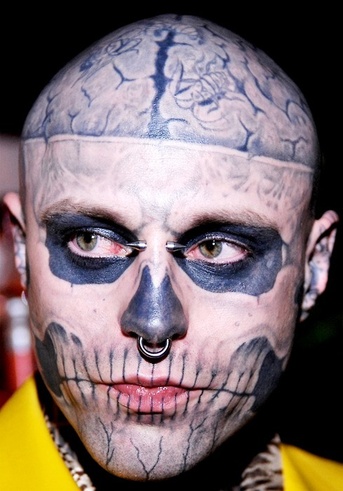 bookmarks 100 skull face tattoo guy madness bookmarks100