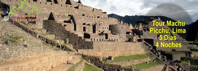 Machu Picchu, lima Valle Sagrado de los Incas