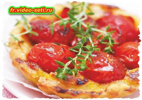 Tartelettes tomate et thym
