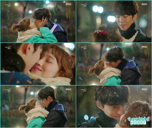 Joon hyung and bok joo confession kiss on the first snow - Weightlifting Fairy Kim Bok Joo: Episode 12