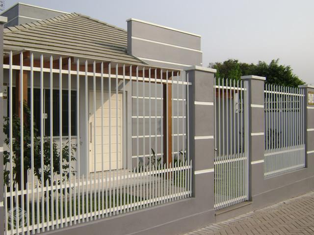 muros e grades residenciais  u2013 25 inspira u00e7 u00f5es modernas