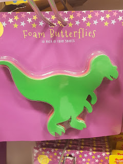 Butterflies have changed a lot since I was young, these look like foam dinosaurs to me!