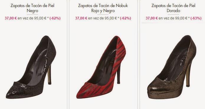 Ejemplos de zapatos de tacón de esta oferta