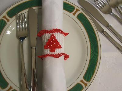 Christmas napkin ring - Fermatovagliolo natalizio