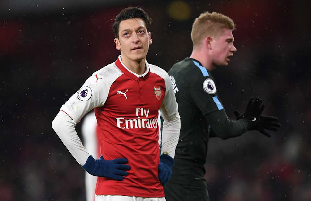 Ian Wright's comments about Mesut Ozil before Arsenal v Man City now look spot on