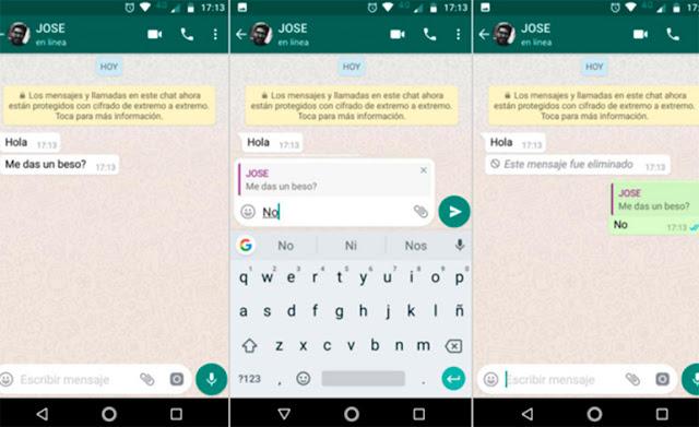 pasos para  leer un mensaje eliminado del WhatsApp
