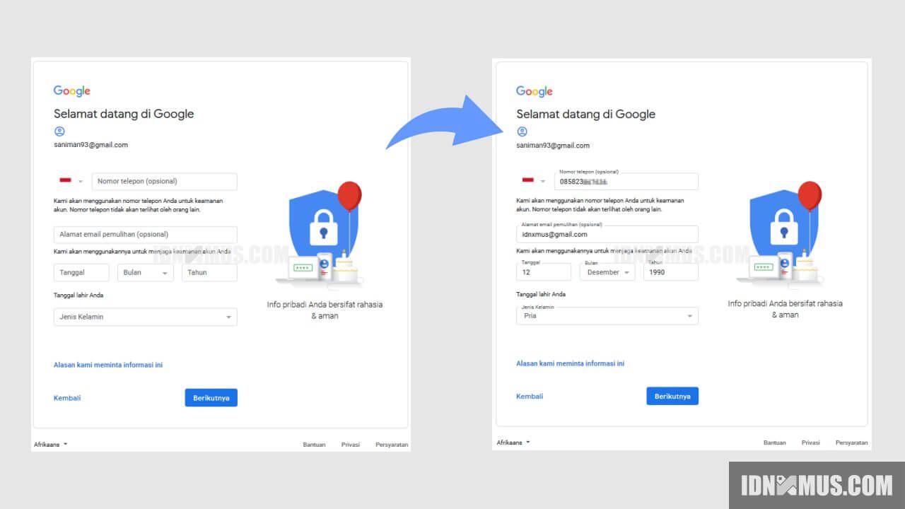 Membuat Gmail Langsung Jadi