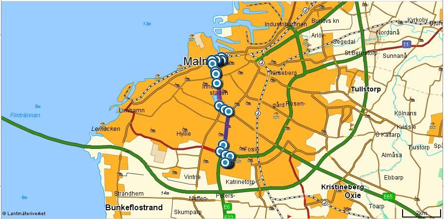 karta över malmö Karta över Malmö Kommun Bild | Karta över Sverige, Geografisk  karta över malmö