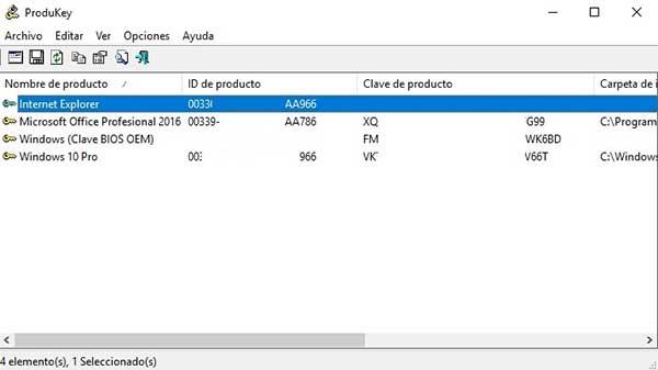 Encontrar la clave de producto de Windows