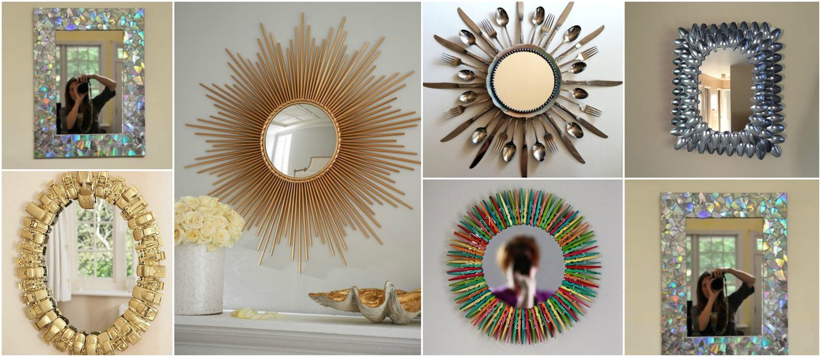 11 ideas originales para decorar espejos en casa lodijoella for Espejos circulares para decorar