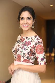 Ritu Varma smiling face Cream Anarkali dress at launch of OPPO New Selfie Camera F3 ~  Exclusive 067.JPG