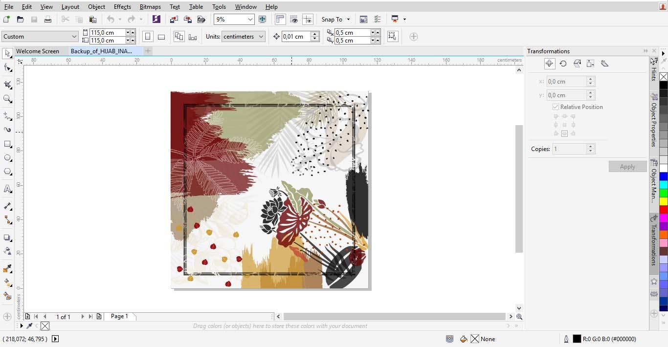 Proses pembuatan Hijab / Kerudung printing