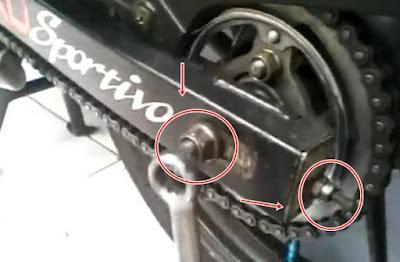 Cara Menyetel Rantai Motor Dengan Baik Dan Benar