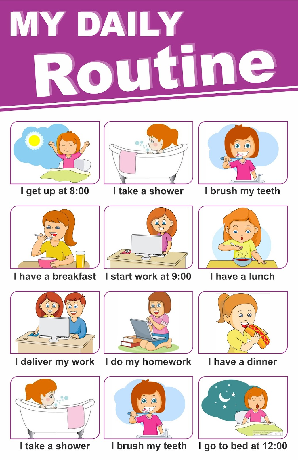 My Daily Routine My Daily Life How I Spend My Daily Life