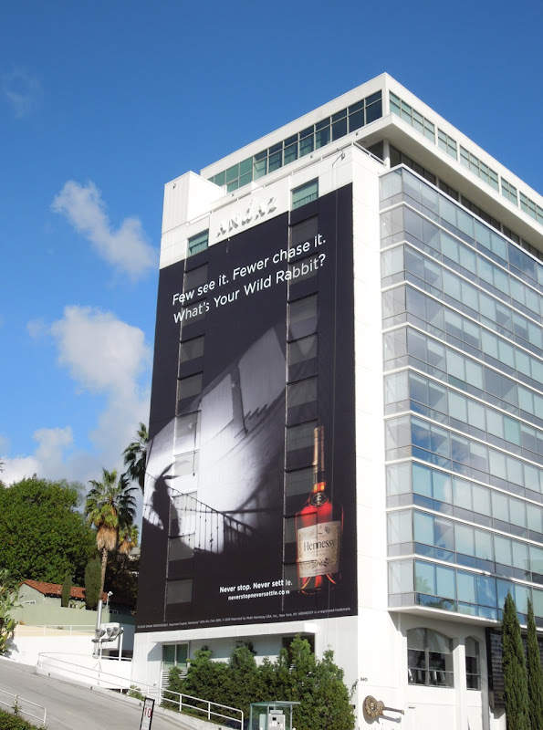 Giant Hennessey Wild Rabbit billboard