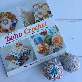 Boho Crochet book and crochet baubles