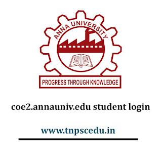 Coe2.annauniv.edu home student login