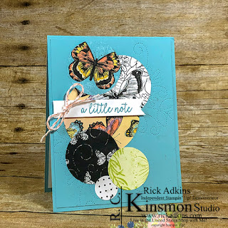 Botanical butterfly designer series paper, saleabration, stampin up, rick adkins