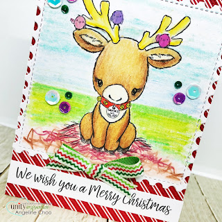 ScrappyScrappy: Christmas Cuddlebugs with Unity Stamp  - Santa's Lil Helper Cuddlebug #scrappyscrappy #unitystampco #tierrajackson #cuddlebug #christmascard #cardmaking #papercraft #quicktipvideo #youtube #prismacolor #coloredpencil #reindeer #unitystampsequin #arielsequin #santalilhelper