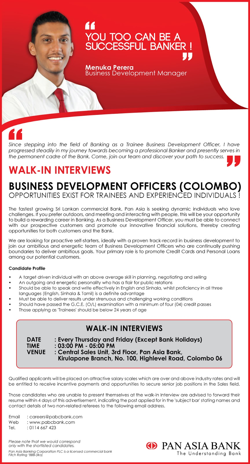 Business Development Officers (Colombo)