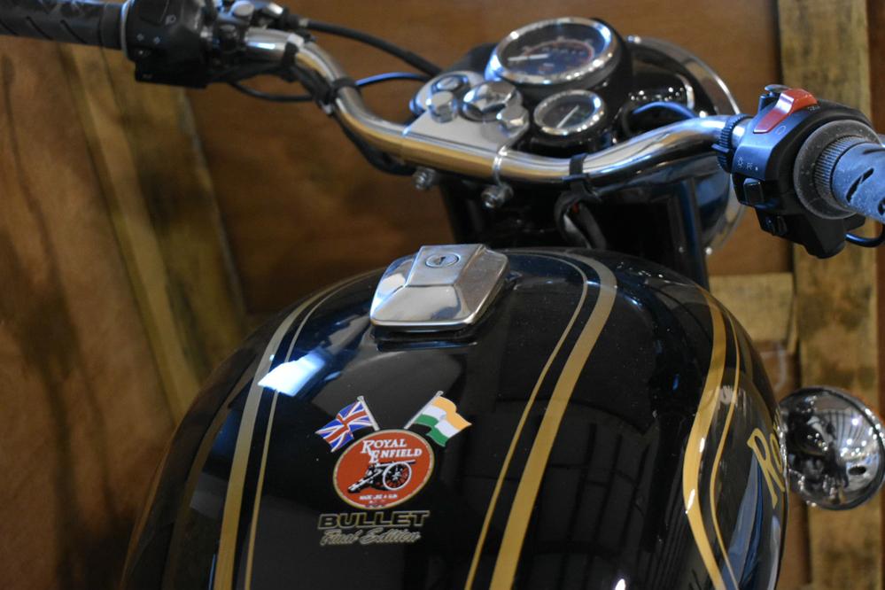 Motorcycle tank.