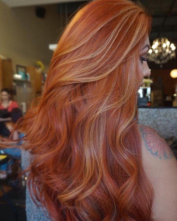 Балаяж на рыжие волосы