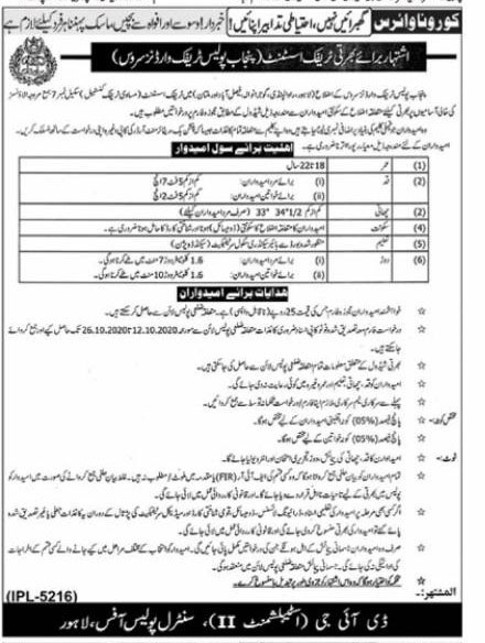 punjab-police-traffic-wardens-jobs-2020-form