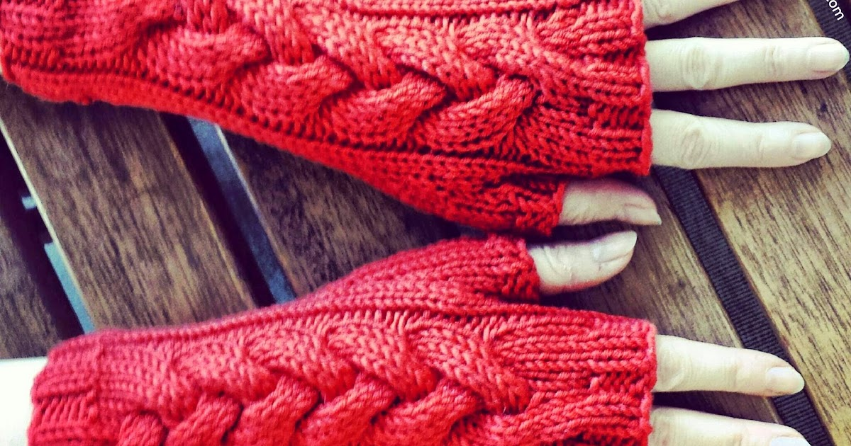 Knitting Yarn Weights Explained : Knitting and so on helga cabled mitts