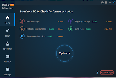 OSToto PC Speeder 5.1.7.14 Patch Full ၊5.98 MB