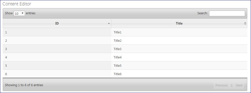 SharePoint: Display SharePoint List Data in JQuery DataTable