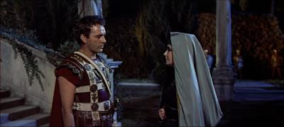 Cleopatra and Mark Antony in the 1963 movie Cleopatra