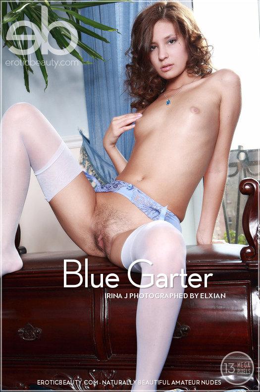 EroticBeauty5-18 Irina J - Blue Garter 04070